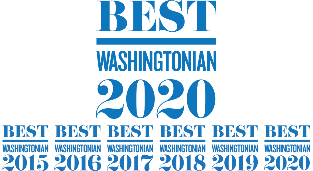 Best Washingtonian 2019, 2018, 2017, 2016, and 2015